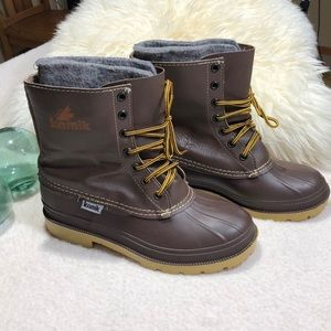 Kamik Wool Lined Lace Up Winter Boot